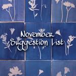 November Suggestion List