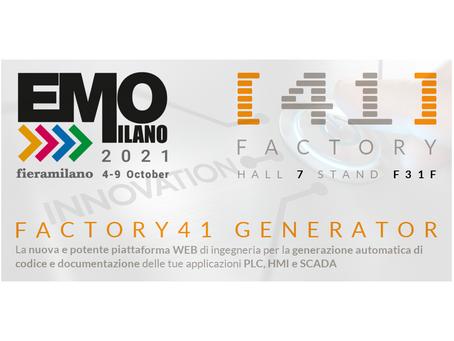 EMO 2021 Fieramilano - 4-9 ottobre