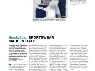 Brooksfield. SPORTSWEAR MADE IN ITALY