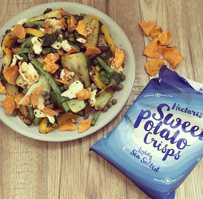 Hectares Sweet Potato Crisps and recipe ideas..