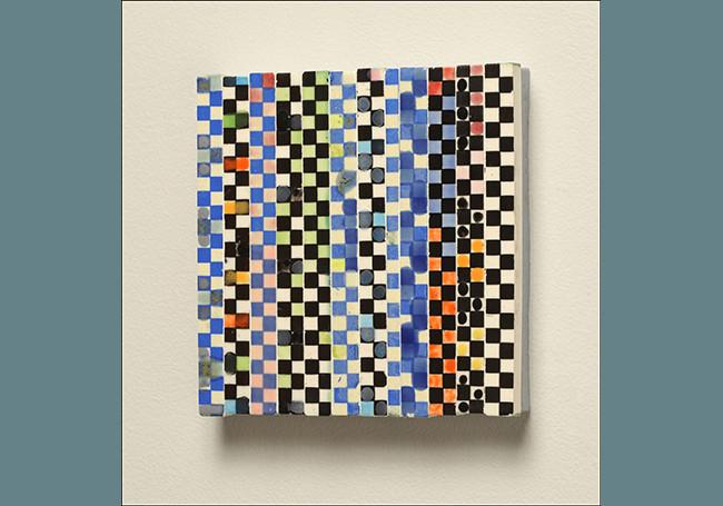 Blue Checker Tile