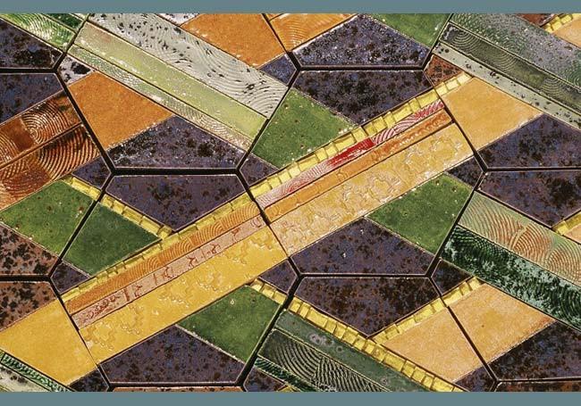 25 Golden Hexagons (detail)