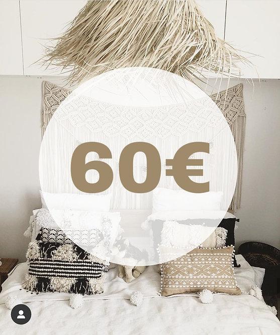 BON D'ACHAT 60 EUROS
