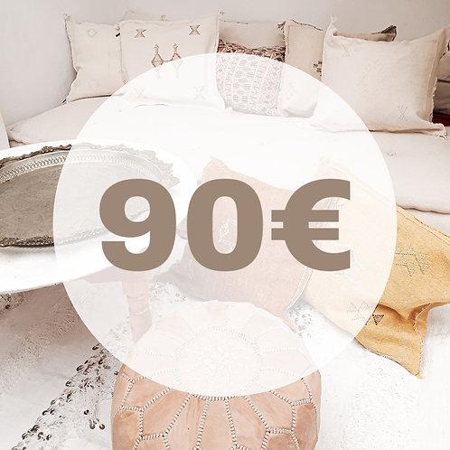 BON D'ACHAT 90 EUROS