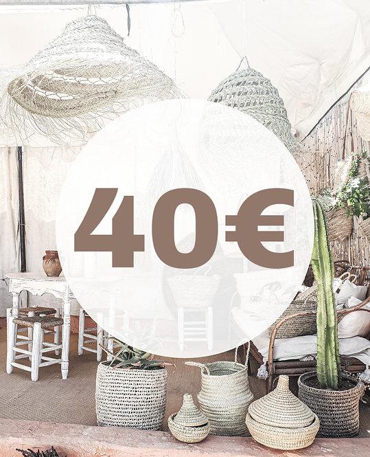 BON D'ACHAT 40 EUROS