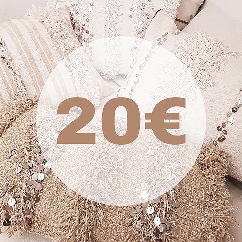 BON D'ACHAT 20 EUROS