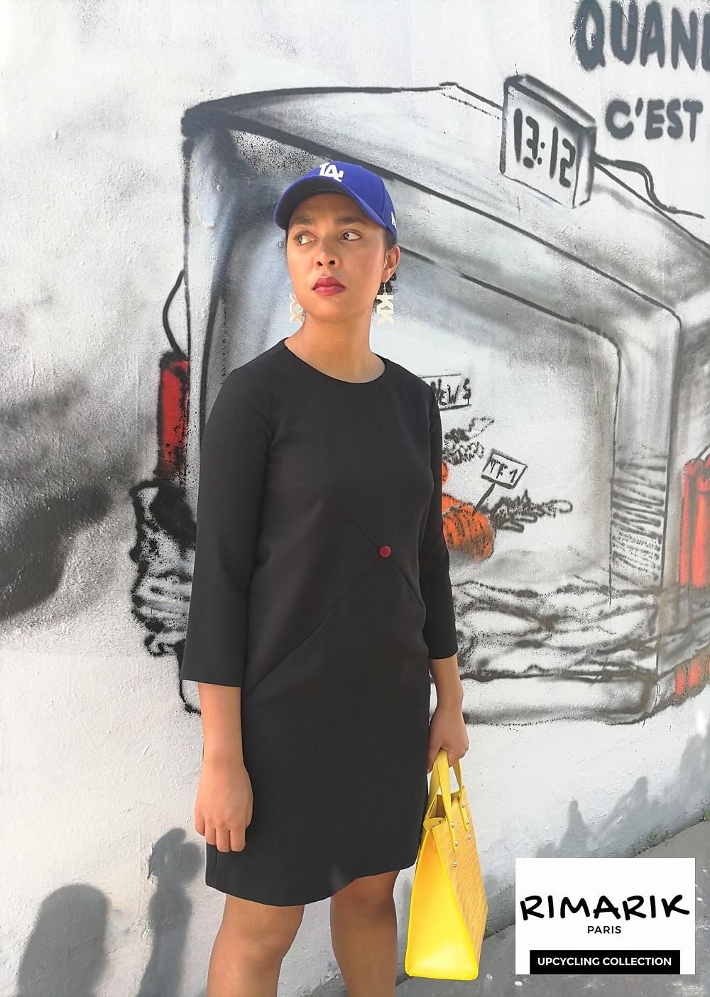 Robe upcyclée à Paris par Rimarik, la marque de Rima Chemirik