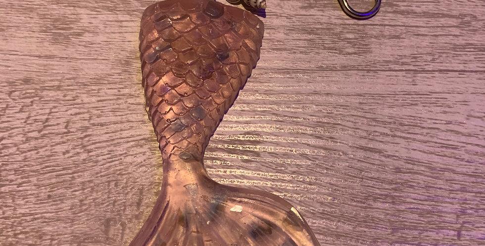Large Mermaid Tail Keychain