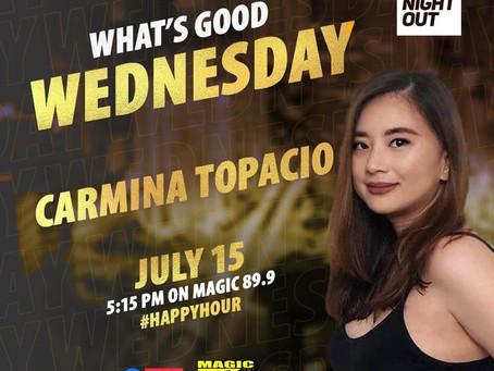 Carmina Topacio guesting on the Radio Boys Night Out 89.9