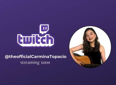 Carmina joins Twitch and will stream every FIRST of the month!!