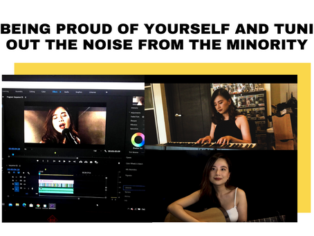 On being proud of yourself and tuning out the noise from the minority