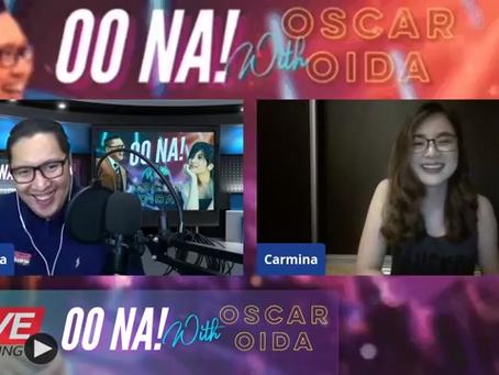 Carmina Topacio Guesting at OO NA with Oscar Oida