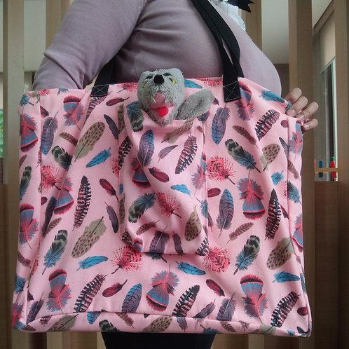 Bolso Kamishibai Plumas coloridas