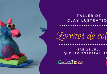 Taller clayilustration Zorritos de colores en Qué Leo Forestal