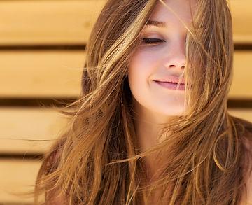 Keratin relaxer treatment soft waves wavy hair