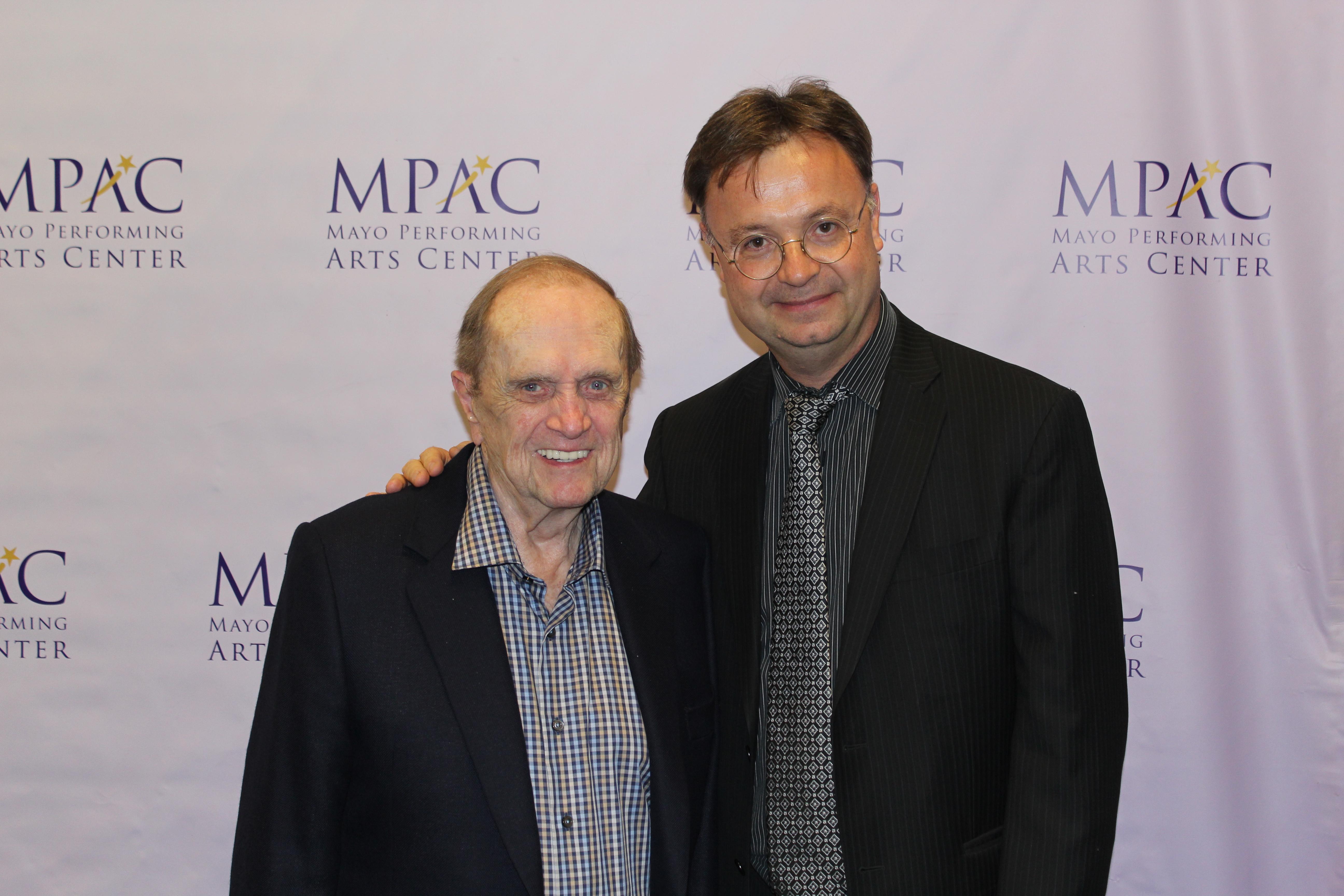 David Wroe with Bob Newhart