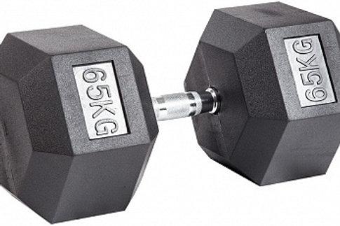Гантель обрезиненная DB-301  65 кг