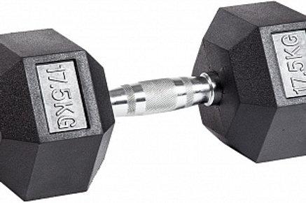 Гантель обрезиненная DB-301  17,5 кг