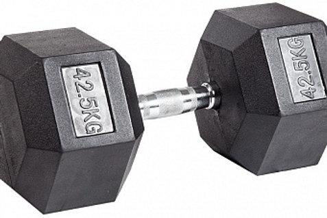 Гантель обрезиненная DB-301  42,5 кг