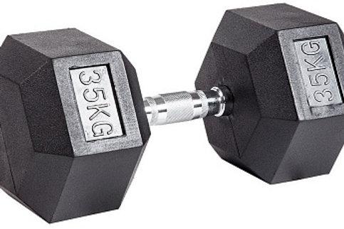 Гантель обрезиненная DB-301  35 кг