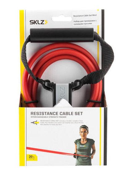 Набор для тренировок с силовыми тросами (среднее сопротивление)Resistance Cable