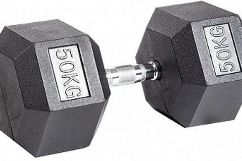 Гантель обрезиненная DB-301  50 кг