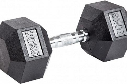 Гантель обрезиненная DB-301  20 кг