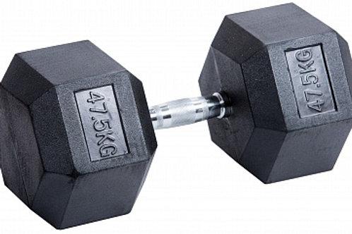 Гантель обрезиненная DB-301  47,5 кг