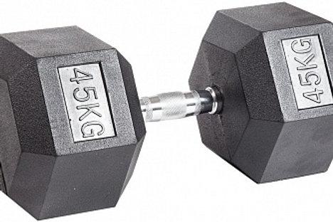 Гантель обрезиненная DB-301  45 кг