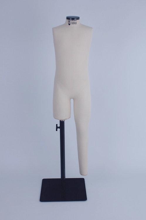 Manequim inf. unissex tam. 6 anos uma perna longa