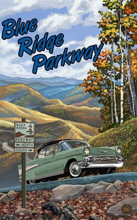 vintage Blue Ridge Parkway