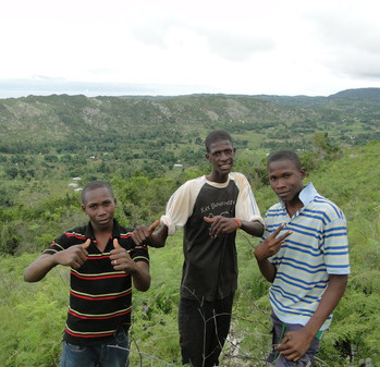 Young men in Haiti