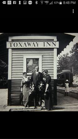 Vintage Toxaway Inn sign