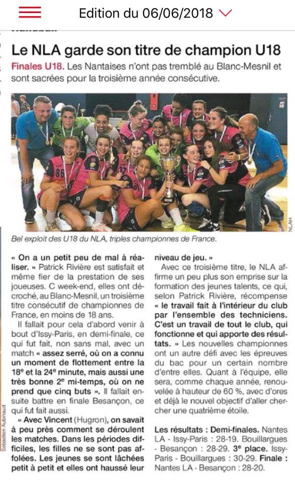 NLA - Les -18 Championnent de France NAT.