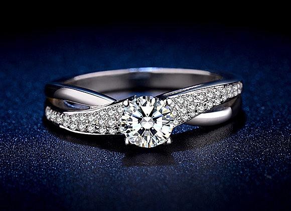 SlimCurve Pave Engagement Ring