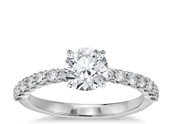 Petite Luna Diamond Engagement Ring