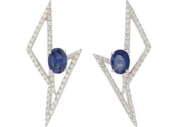 Flash Sharp Sapphire Earring