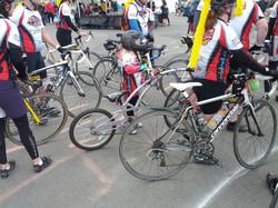 Isabella and bike at finish