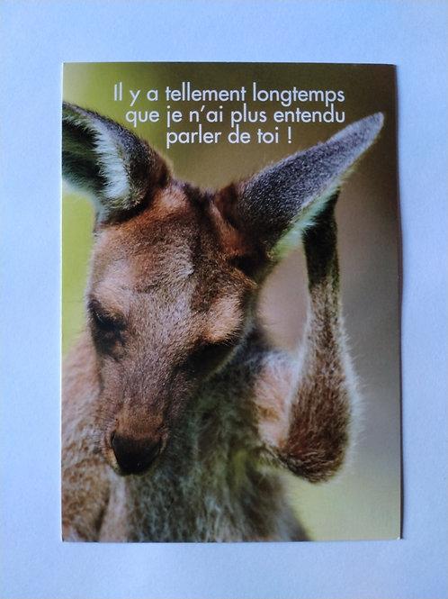 Carte kangourou entendu