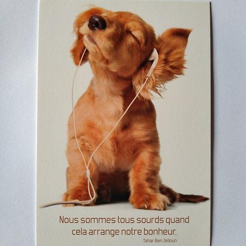 Carte chien sourd