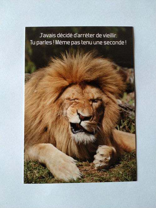 Carte lion vieillir