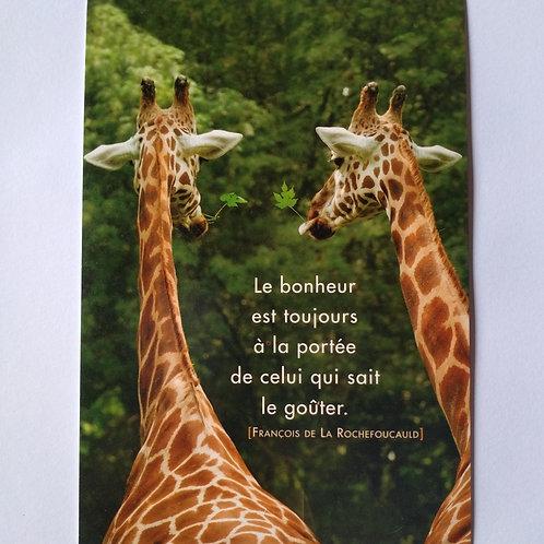 Carte girafe bonheur