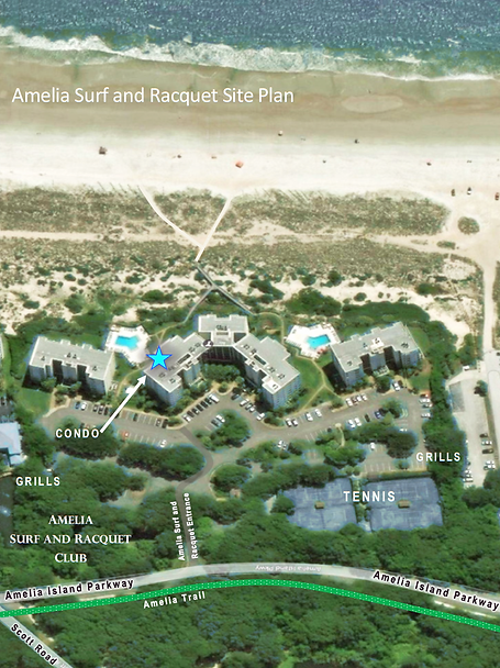 Amelia Island Vacation Rental Site Plan