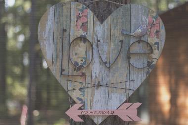 """Love in the Woods"" Metal Wall Art"