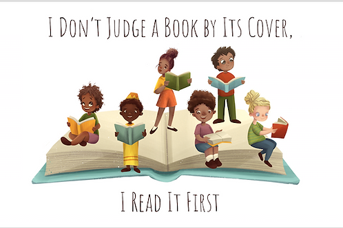 I Don't Judge a Book By Its Cover – bookmark
