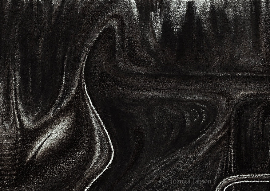 "Detail: graphic work for a ballet ""The Goblin"" / 2015, charcoal"