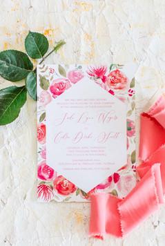 Tropical Custom Wedding Invitation Suite