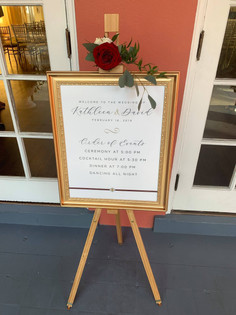 Real Florida Wedding: Custom Designed Schedule of Events Sign