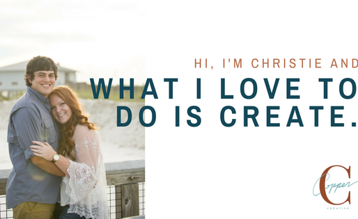 Hi, I'm Christie and what I love to do is create.