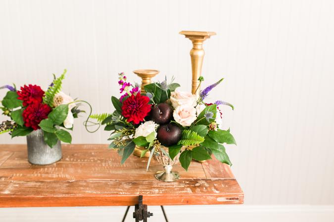 wedding flowers, centerpieces, florals, peonies, roses, greenery, Cotton & Magnolia, St. Pete Florist